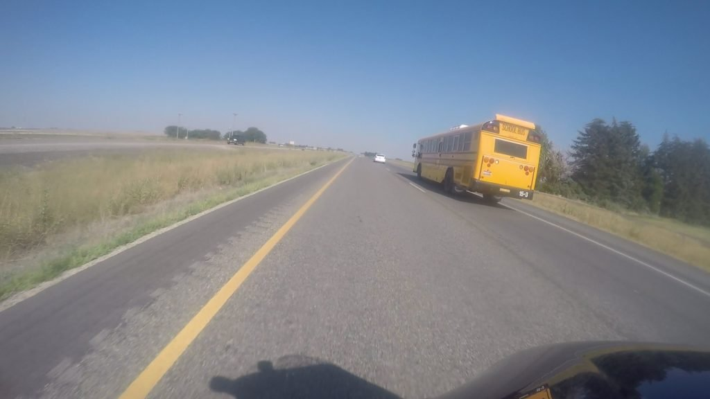 School bus 85 mph