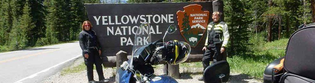 Yellowstone entrance sign